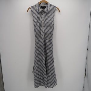 Lulu's Striped Long Shirt Maxi Dress Size Large